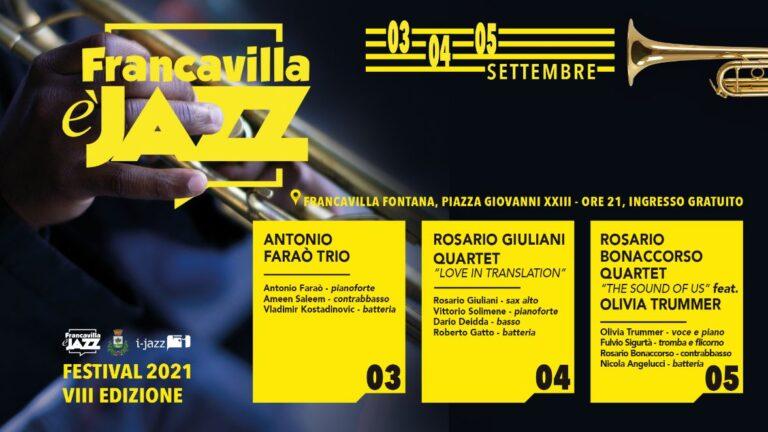 Dal 3 al 5 settembre l'ottava edizione del Francavilla è Jazz
